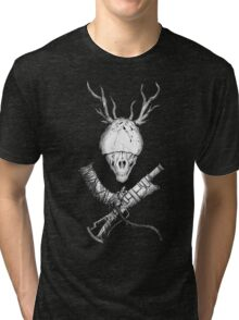 Bloodborne CrossWeapons(white) Tri-blend T-Shirt