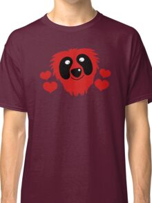 funny red grover like monster with love hearts Classic T-Shirt