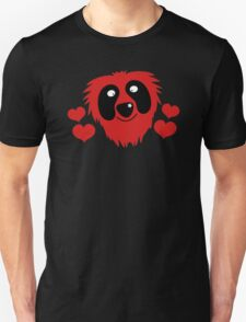 funny red grover like monster with love hearts Unisex T-Shirt