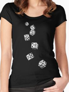 Skull Dice - Roll Women's Fitted Scoop T-Shirt