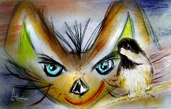 Supper Time My Little Chickadee by Angela  Burman