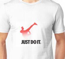 Shia LaBeouf Stretching Nike Unisex T-Shirt