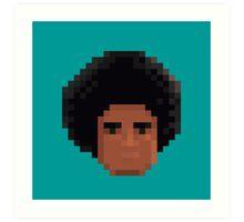 Afro Pixel Art Print