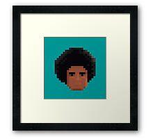 Afro Pixel Framed Print
