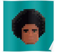 Afro Pixel Poster