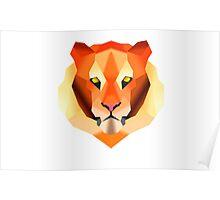 Polygon Tiger Poster