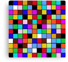 Checkerboard Color Blocks Abstract Pattern Canvas Print