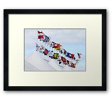 Shipping Flags Framed Print