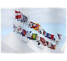 Shipping Flags Poster