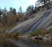 Granite And Pond 2 by Benjamin Sharp