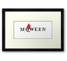 Yassss McQWEEN!!!!! Framed Print