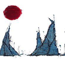 Buildings and Red Sun-3 By VERNON SULLIVAN by vernonsullivan