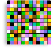 Color Blocks Pastel Pattern Canvas Print