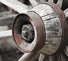Rustic Wagon Wheel Hub and Spokes by Chris Riffe