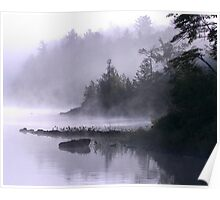Misty Morning at Kennebec Lake, Ontario Poster