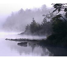 Misty Morning at Kennebec Lake, Ontario Photographic Print