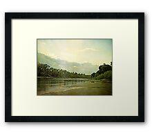 Shining Sunset Framed Print