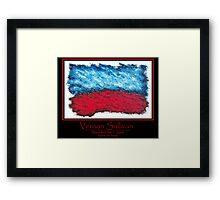 Blood Red Sea-1-Publicity Poster-3 By VERNON SULLIVAN Framed Print