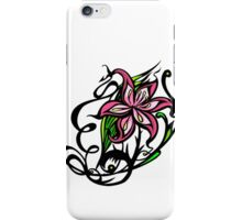 Pink and Black Floral iPhone Case/Skin
