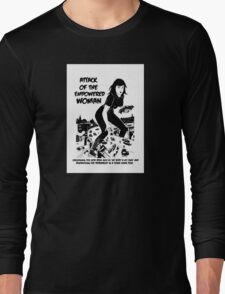 Attack of the empowered woman V2 - Naturally Defective Long Sleeve T-Shirt