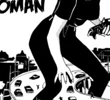 Attack of the empowered woman V2 - Naturally Defective Sticker