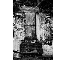 She used to live behind that gate.... Photographic Print
