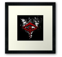 Guild Wars 2 Inspired Revenant flame logo Framed Print