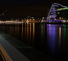 Dublin Docklands at night by Esther  Moliné
