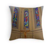 Crucifix. Throw Pillow