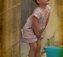 Little girl in Valletta, Malta. by Ellen van Deelen