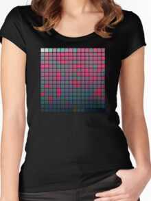 Color Grid 05 Women's Fitted Scoop T-Shirt