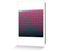 Color Grid 05 Greeting Card