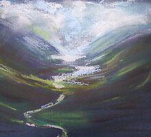 Wild welsh valley by Caroline Maddison