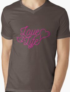 Love life Mens V-Neck T-Shirt