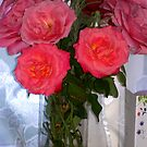 Vase with roses, rococoo by loiteke