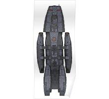 Battlestar Galactica Spaceship Reproduction [Vertical] Poster