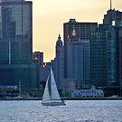 Sunset Sail Boat  by Diane Trummer Sullivan