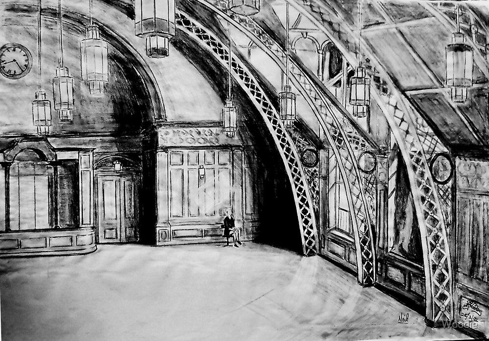 Top Floor, Old Co-Op building(Pencil) by Woodie