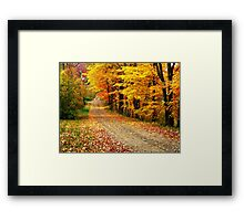 The Country Road Framed Print