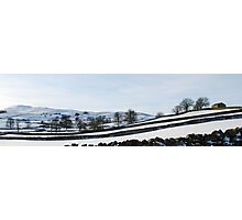 West Wensleydale in Snow Photographic Print