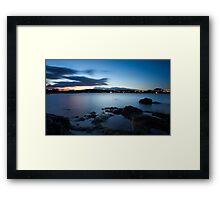 Night in Cannigione Framed Print