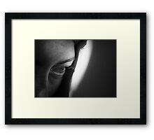 In the White Room With Black Curtains Framed Print