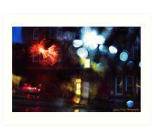 Rainy Downtown Art Print