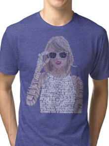 Taylor Swift Typography Tri-blend T-Shirt