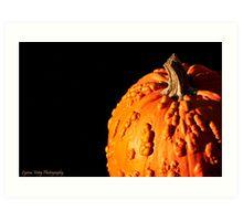 Very Bumpy Pumpkin Art Print