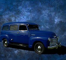 "1948 Chevrolet Suburban Carryall.  "" I've got the Blues"" by TeeMack"