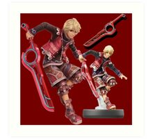 Xenoblade Chronicles Shulk Super Smash Bros Amiibo T-Shirt Art Print