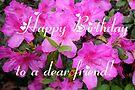 Happy Birthday To a Dear Friend by AuntDot