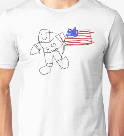 John Cena and the American Flag Unisex T-Shirt