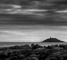 Garryvoe Lighthouse Mono by Declan Howard